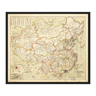 Map of China (circa 1900) Canvas Print