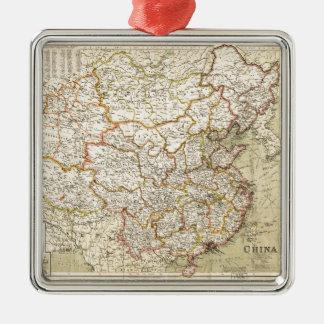 Map of China (circa 1900) Metal Ornament