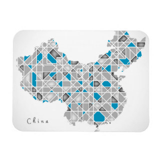 Map of China | Crystal Diamond Style Artwork Magnet