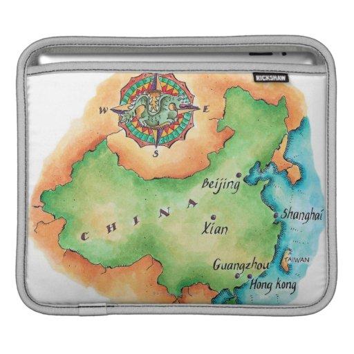 Map of China iPad Sleeves