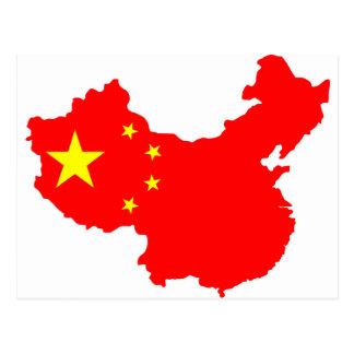 Map of China Postcard