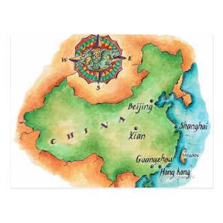 Map of China Postcard