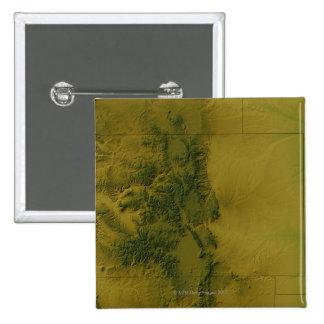 Map of Colorado 15 Cm Square Badge