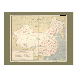 Map of Communist China (March 1956) Postcard
