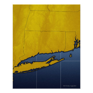 Map of Connecticut Poster