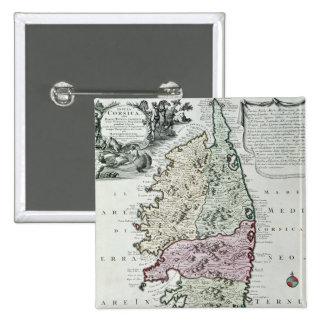 Map of Corsica 15 Cm Square Badge