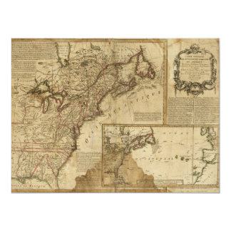 Map of Early America (1780) Card