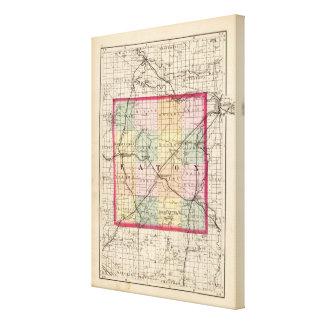 Map of Eaton County, Michigan Canvas Prints