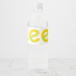 Map of Edmonton Water Bottle Water Bottle Label