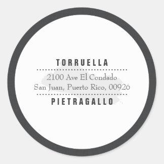 Map of El Salvador Elegant Classic Round Sticker