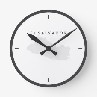 Map of El Salvador Round Clock