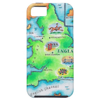 Map of England iPhone 5 Cases