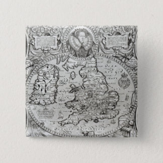 Map of England during the reign of 15 Cm Square Badge
