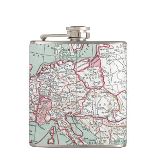 MAP OF EUROPE, 12th CENTURY Flask