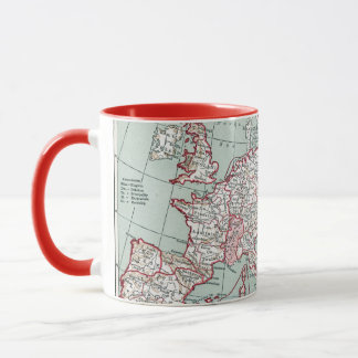 MAP OF EUROPE, 12th CENTURY Mug