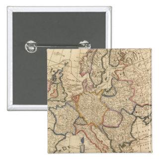 Map of Europe 15 Cm Square Badge