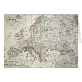 Map of Europe, 1841 Card