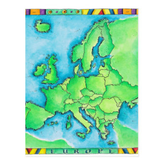 Map of Europe 3 Postcard