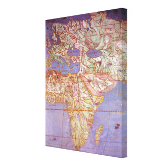 Map of Europe and Africa Gallery Wrapped Canvas