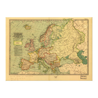 Map of Europe by Century Atlas Company (1897) Canvas Print