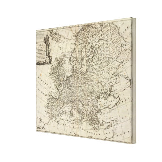 Map of Europe Stretched Canvas Print