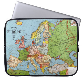 Map of Europe Laptop Sleeve