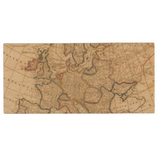 Map of Europe Wood USB 2.0 Flash Drive