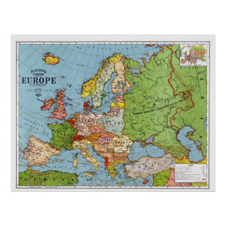 Map of Europe Poster