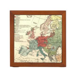 Map of Europe Vintage Antique Desk Organiser