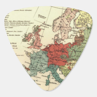 Map of Europe Vintage Antique Plectrum