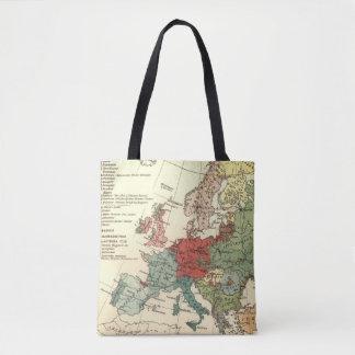 Map of Europe Vintage Antique Tote Bag