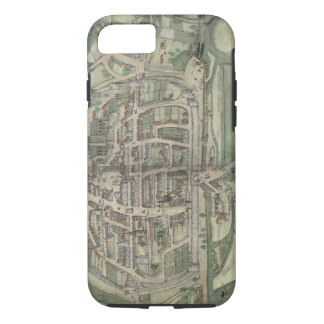 Map of Exeter, from 'Civitates Orbis Terrarum' by iPhone 7 Case