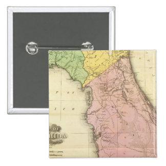 Map of Florida 2 15 Cm Square Badge