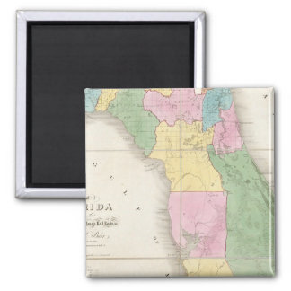 Map of Florida 2 Square Magnet