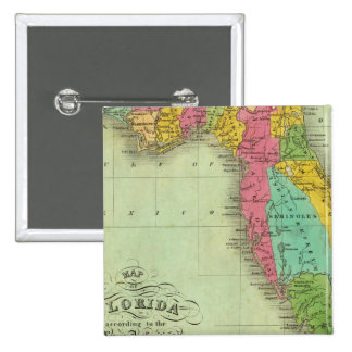 Map of Florida 15 Cm Square Badge