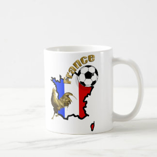 Map of France Le Coq soccer ball gifts Coffee Mug