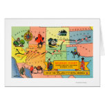 Map of Fred Harvey Hotel LocationsCA to KS Card