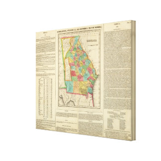Map Of Georgia Gallery Wrapped Canvas