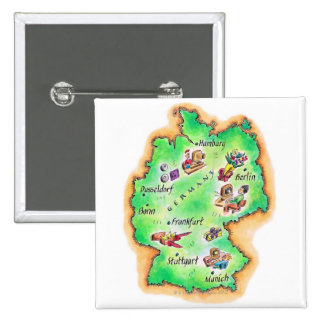 Map of Germany Buttons