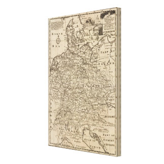 Map of Germany Gallery Wrap Canvas