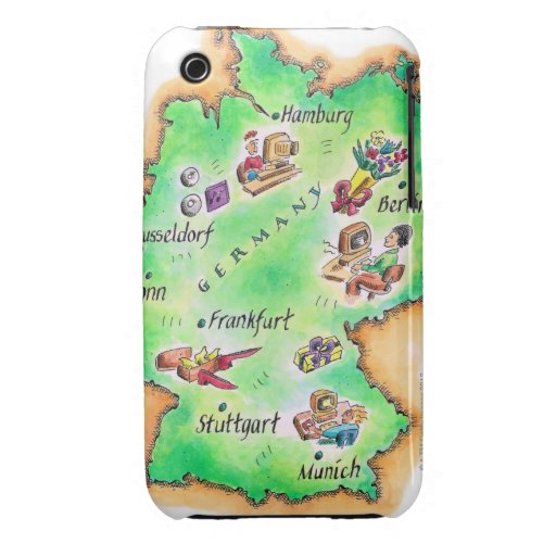 Map of Germany iPhone 3 Covers