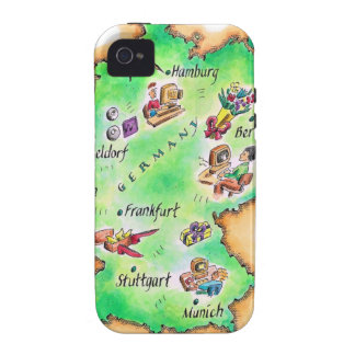 Map of Germany iPhone 4 Cases