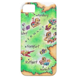 Map of Germany iPhone 5 Cases