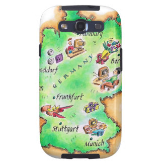 Map of Germany Samsung Galaxy S3 Cover