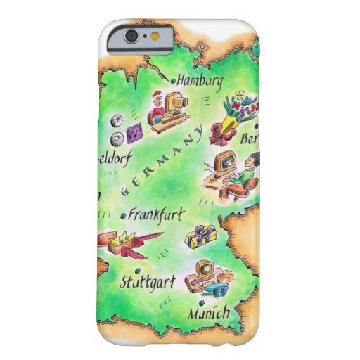 Map of Germany iPhone 6 Case