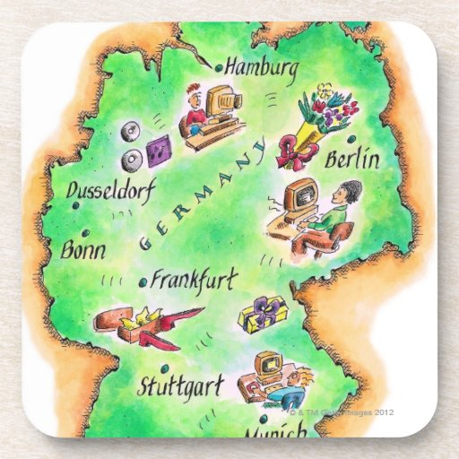 Map of Germany Coaster