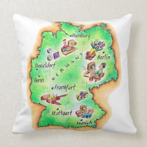 Map of Germany Pillow