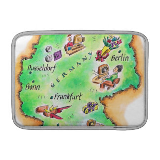Map of Germany Sleeve For MacBook Air