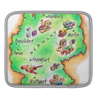 Map of Germany iPad Sleeve