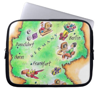 Map of Germany Computer Sleeve